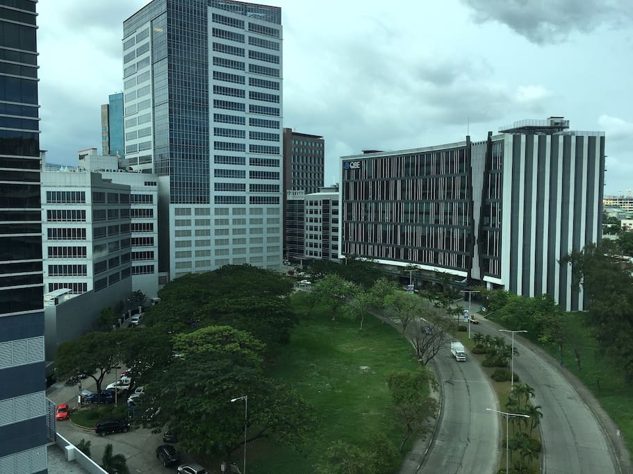 Panoramic view of the business center
