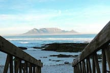 Blouberg Beach which is one of the many beaches close to the apartment