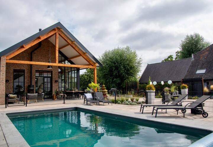Luxe gastenkamer in de Betuwe met zwembad