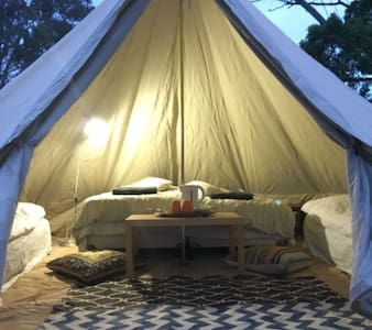 On-site bell tents set up for you! - Coonawarra
