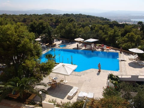 Large outdoor swimming pool