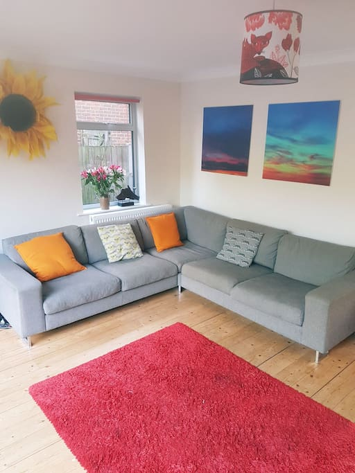 Big sofa in living room