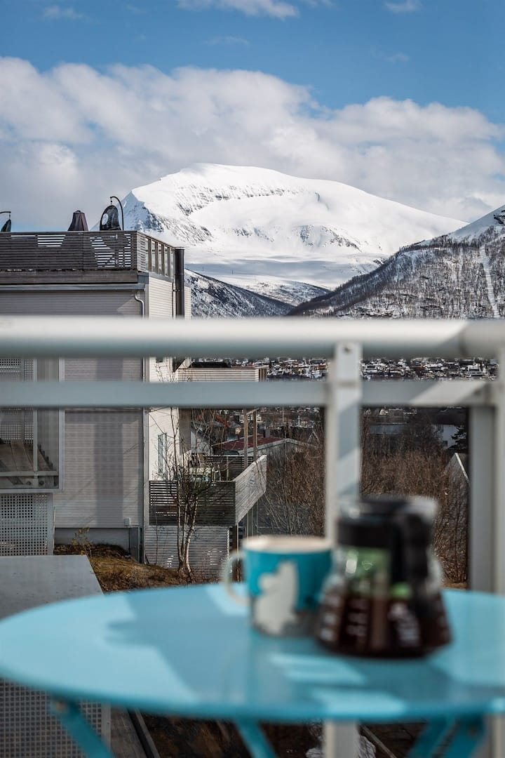 Lyst og romslig med balkong. Ligger nært det meste