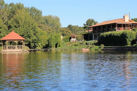 Lake Noble: heated pool, hot tub, fishing lake - Saint-Germain-l'Aiguiller