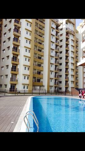 CITYSCAPE  a modern community apartment complex.