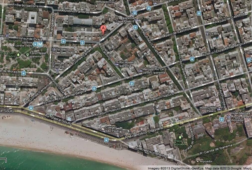 Excelente localização. Perto do metrô e das praias de Ipanema e Copacabana. / Great location. Next to the subway and Ipanema and Copacabana beaches.