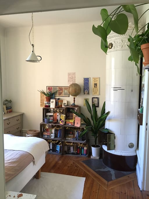 Bedroom and books