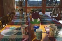 Café da manhã. Foto gentilmente cedida por hóspedes.