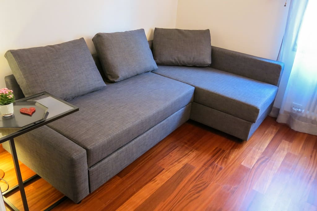 Sofa bed  (closed)
