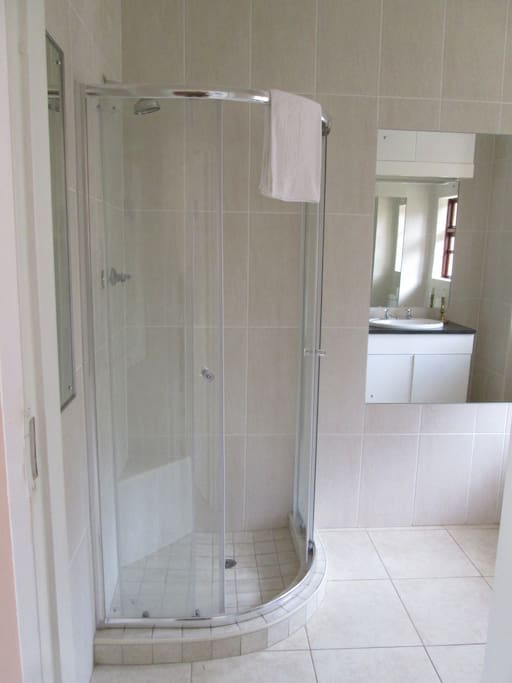 The en suite shower unit all with no slip tiles