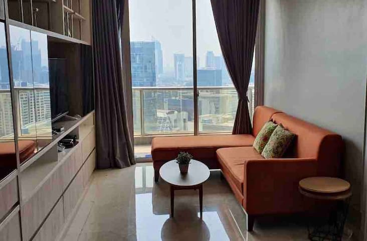 Light,  Fair, Cozy Apartment in Central Jakarta