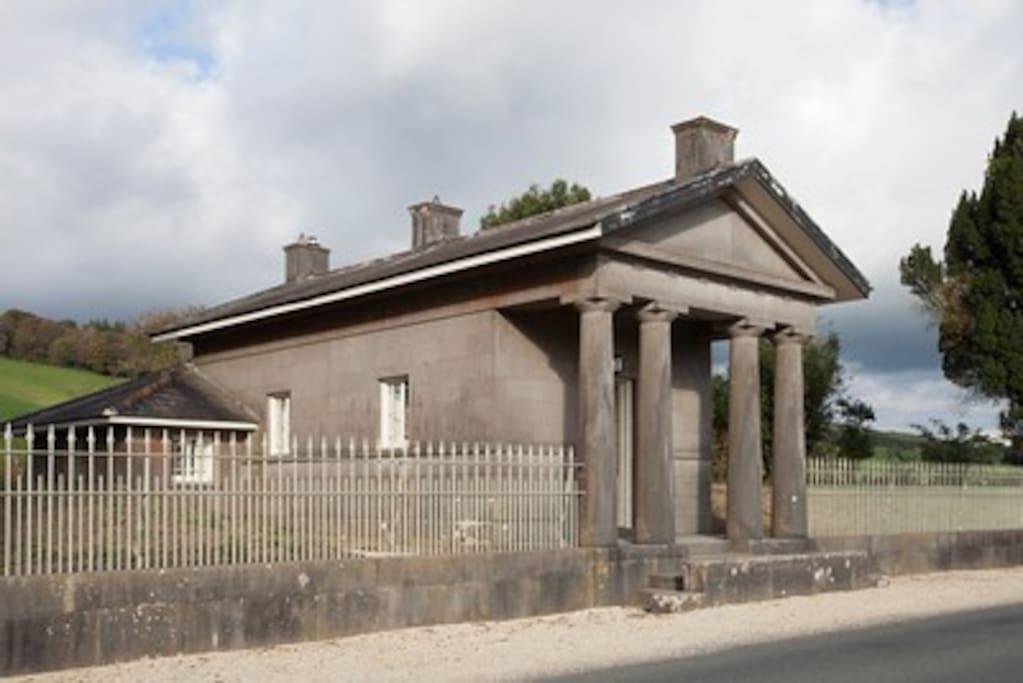 Side profile of Loughcrew Lodge