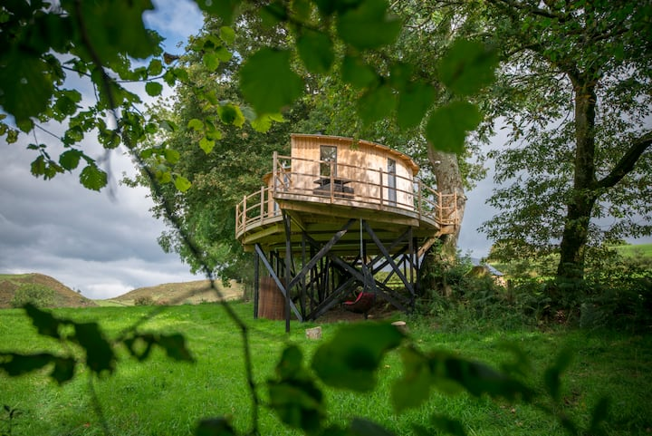 Ty'r Onnen Treehouse in glorious rural Ceredigion