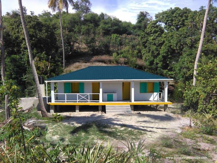 Laplage. Su lugar en Île à vache, Haití.  A