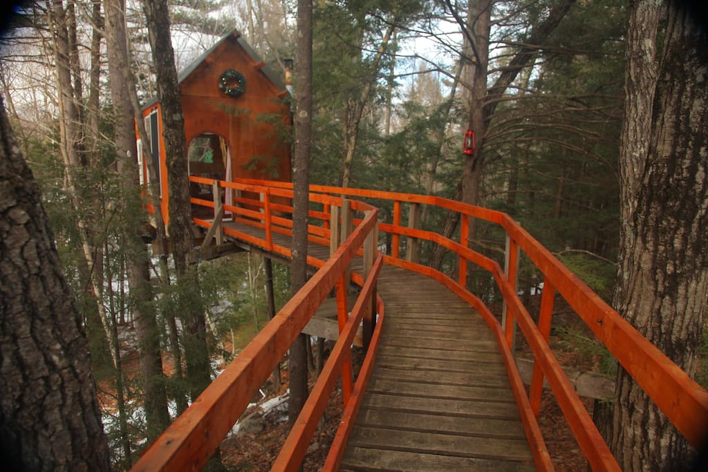 Caution;   Very Romantic Treehouse Ahead!