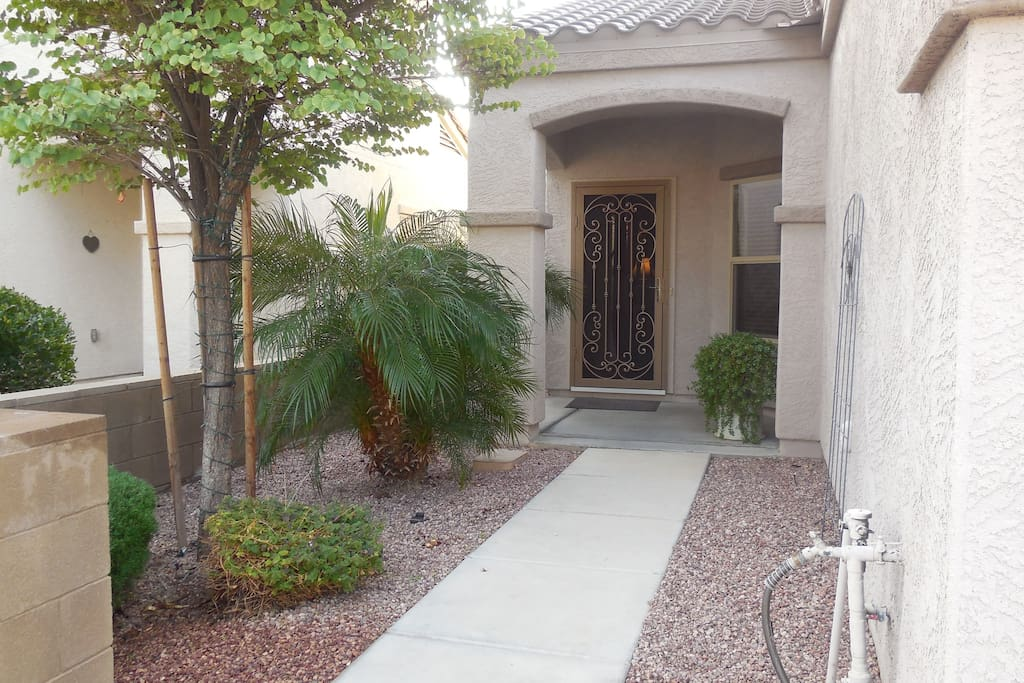 Front entrance with top graded Security Screen Door