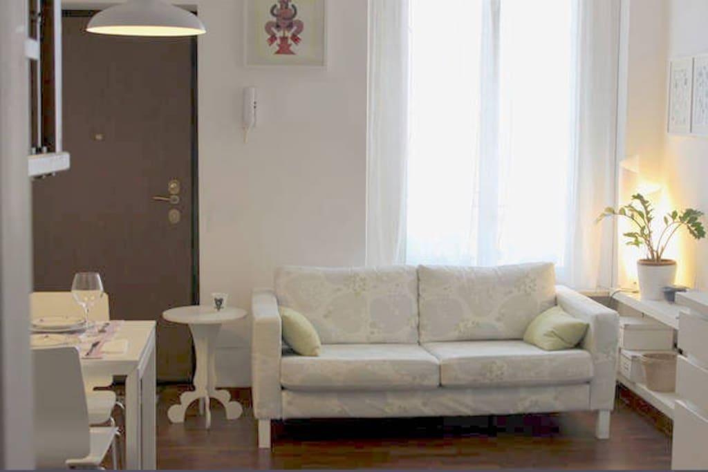 Entrance level: living room