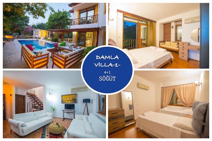 Villa Damla Söğüt Marmaris Günlük Haftalık Kiralık