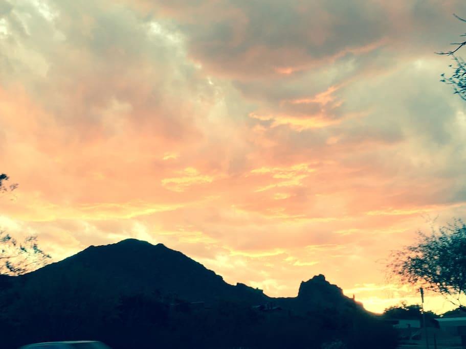 Spectacular postcard Camelback Mtn. views