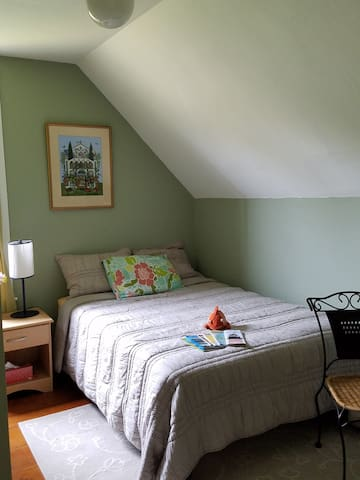 """The """"Green Room"""" has a full sized futon that can be used by our guests should the need arise"""