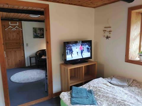 Siesta - Landidyl - TV, minikøkken og spisekrog