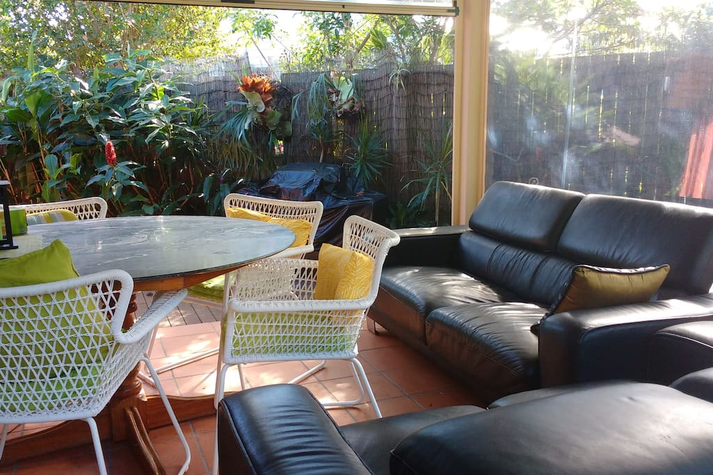 Relax and enjoy the garden conservatory.
