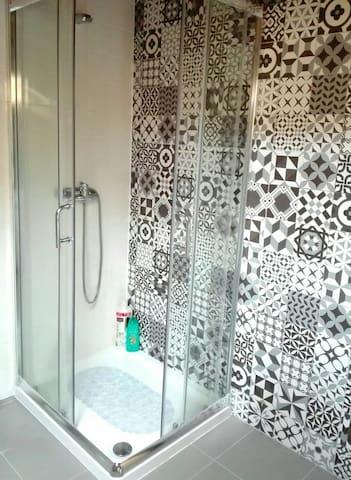 Shower stall...