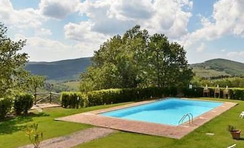 SPLENDID! 3BR, SWIMMING POOL,GARDEN - Gaiole In Chianti - Apartament