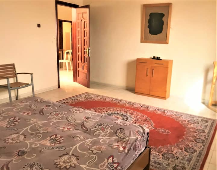 "The bedroom ""Khadhra"" of the Al Muriha apartments"