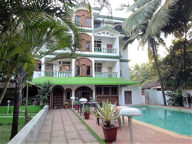 Studio at Eden Garden with Pool near Majorda Beach