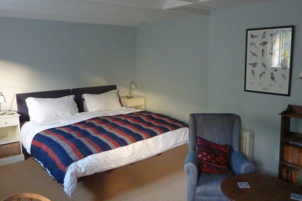 The double bed in bedroom