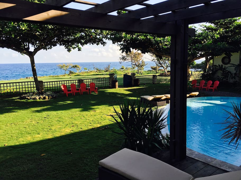 View from Guest Bedroom balcony which pool is attached to and incredible ocean view