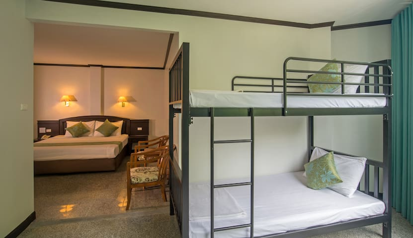 Family room with bunk bed