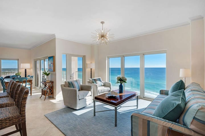 Panoramic Gulf Views In This 3 Bedroom 3 bathroom Renovated Unit. FREE Wifi And Free Fun Pass