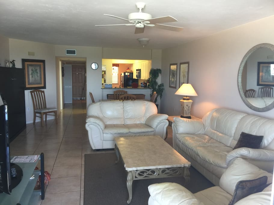 View of living room from lanai.