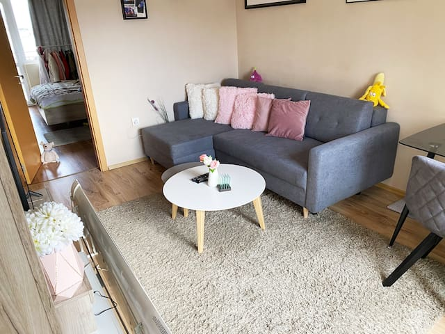 Sunny One Bed Apartment close to airport and malls
