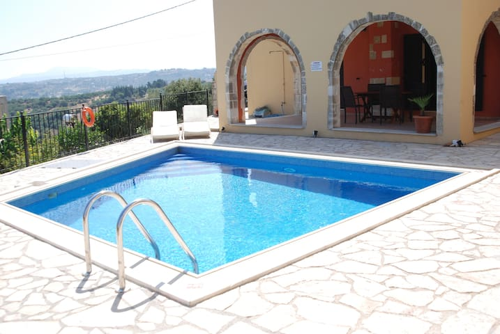 Sea view apartment Ariadne with shared pool