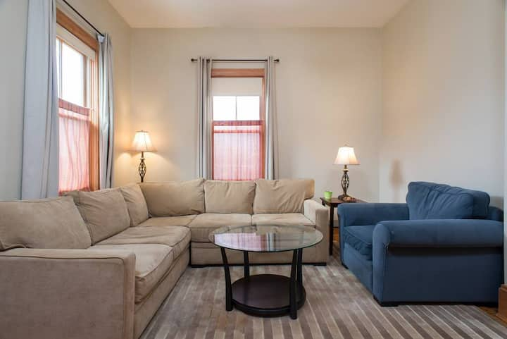 The Dorset Bedroom 3 | Queen bed in Large Room | Walk to the Redline for UMass and Mass General!
