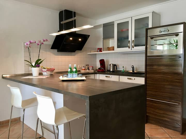Apartment Casa del Monte, (Sinsheim), Apartment Casa del Monte, 50 qm, Terrasse, 1 Schlafzimmer, max. 3 Personen