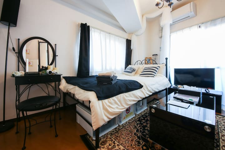 Chic StudioApt gr8 for couples! nrSunshineCity+STA - Toshima-ku - Appartement