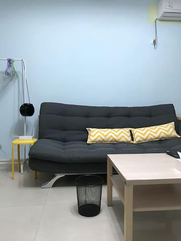 全新沙发床.操作简单.秒变双人床◉‿◉
