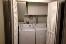 Shared laundry space for your washing pleasure!