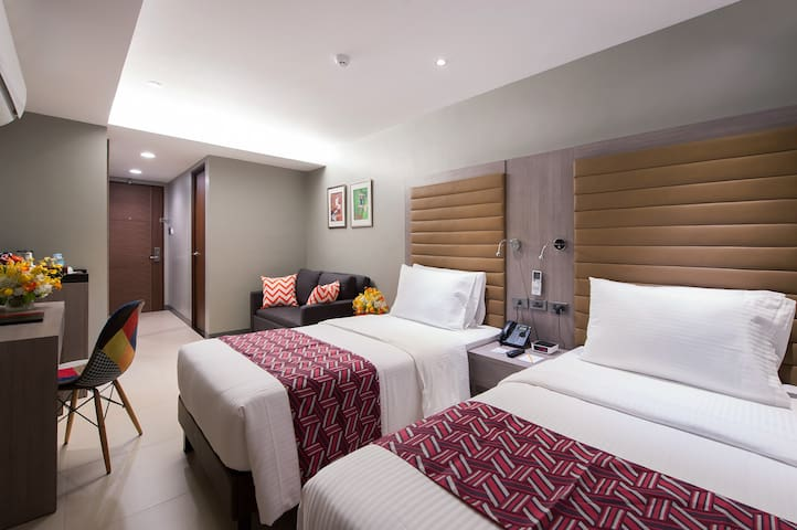 Spacious room with extra pullout bed for group travellers or family