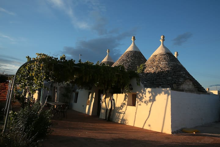 Our trullo is situated in the heart of the Valled'Itria.