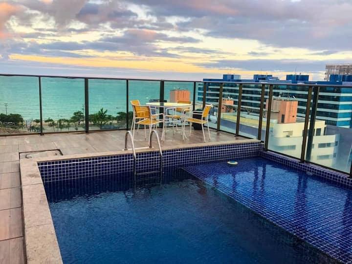 Grande Apartamento 2/4 Beira-Mar