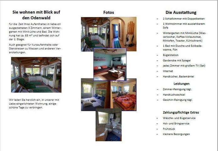 Schöne Ferienwohnung in Pfungstadt, 1-4 Personen