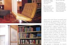 Publicação do apartamento na revista CASA PROJETO ESTILO