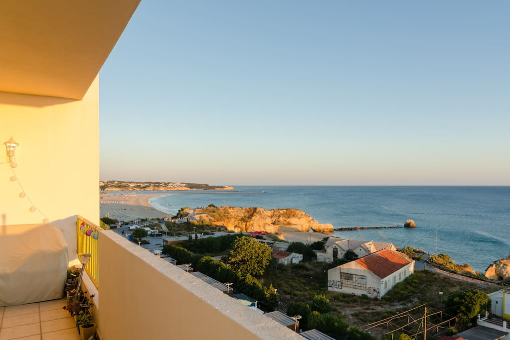 View from front balcony overlooking Praia da Rocha
