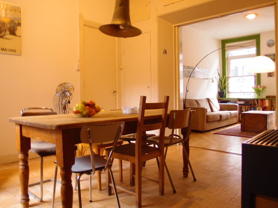 Dining room with big table and plenty of space