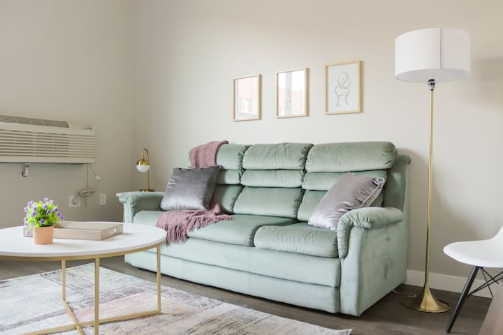 relax in our cozy living room.